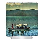 Ferry - Lago De Coatepeque - El Salvador Shower Curtain