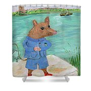 Ferry Mouse Shower Curtain