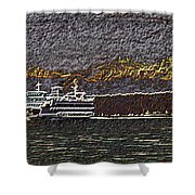 Ferry On Elliott Bay 3 Shower Curtain
