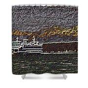 Ferry On Elliott Bay 3 Shower Curtain