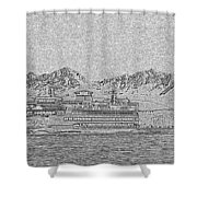 Ferry On Elliott Bay 5 Shower Curtain