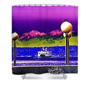 Ferry On Elliott Bay Shower Curtain