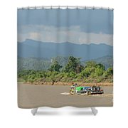 Ferry On The Chindwin 2 Shower Curtain