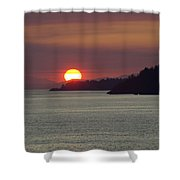 Ferry Sunset Shower Curtain