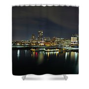 Ferry Terminal In Vancouver Bc At Night Shower Curtain
