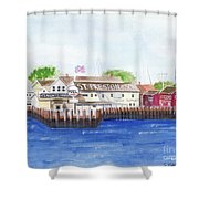 Ferry To Greenport Shower Curtain