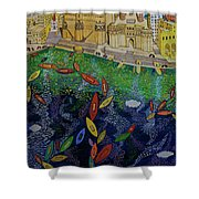 Ferry To The City Of Gold II Shower Curtain