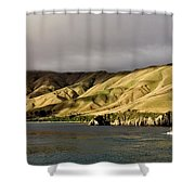 Ferry View Picton New Zealand Shower Curtain