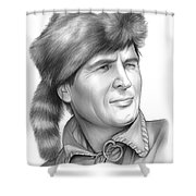 Fess Parker Shower Curtain