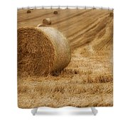 Festival Of Hay Balls In Scotland Shower Curtain