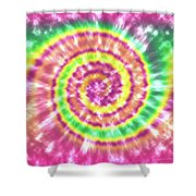 Festival Spiral Bright Colors- Art By Linda Woods Shower Curtain