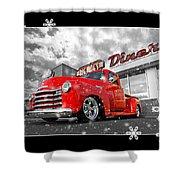 Festive Chevy Truck Shower Curtain