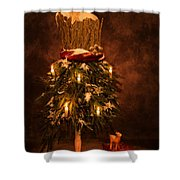 Festive Christmas Vintage Mannequin Shower Curtain