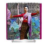 Festive Folk Dance Shower Curtain