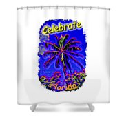 Festive Palm Shower Curtain