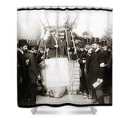 Festive Start Of Balloon 1906 Shower Curtain