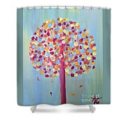 Festive Tree Shower Curtain