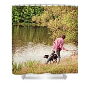 Fetch Shower Curtain