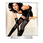 Fetish Pinup Shower Curtain