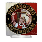 Feyenoord Rotterdam Painting Shower Curtain
