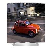 Fiat 500, Italy Shower Curtain
