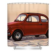 Fiat 500 1957 Painting Shower Curtain