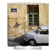 Fiat 600. Belgrade. Serbia Shower Curtain