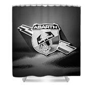 Fiat Abarth Emblem -ck1611bw2 Shower Curtain