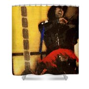 Fiddle Frenzy Shower Curtain