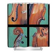 Fiddle Quartet Shower Curtain