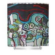 Fiddleheads 5 Shower Curtain