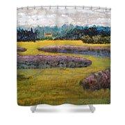 Fiddlers Ridge Marsh Shower Curtain