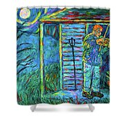 Fiddling At Midnight's Farm House Shower Curtain