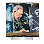 Fidel At The Used Book Sellers Market Shower Curtain