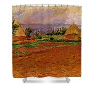 Field And Haystacks 1885 Shower Curtain