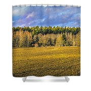 Field And Sky.  Shower Curtain