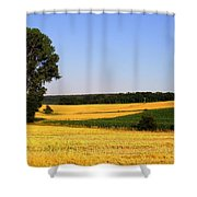 Field Flow Shower Curtain