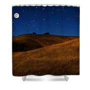 Field Formation Shower Curtain