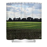 Field Near Coswig Shower Curtain