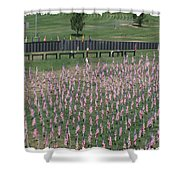 Field Of Flags - Gotg Arial Shower Curtain