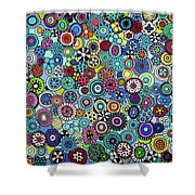 Field Of Blooms Shower Curtain