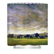 Field Of Green  18x24   Shower Curtain