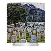 Field Of Heroes Shower Curtain