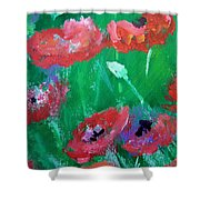 Field Of Red 2 Shower Curtain