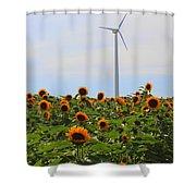 Where The Sunflowers Shine Shower Curtain