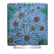 Field Of Wild Daisies Shower Curtain