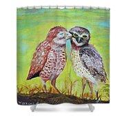 Field Owls  Shower Curtain