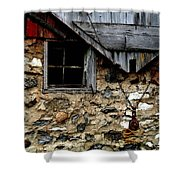 Field Stone Barn Shower Curtain