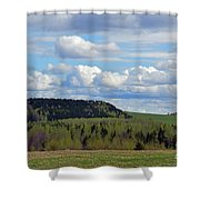 Field To Forest To Hill To Sky Shower Curtain