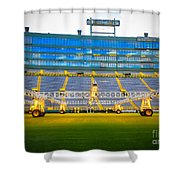 Field View Of Lambeau Shower Curtain
